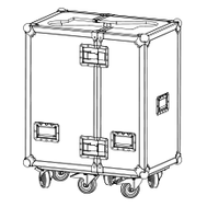 Adamson M15 Flight Case Twinpack