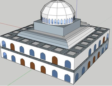 Виды трехмерной модели мечети
